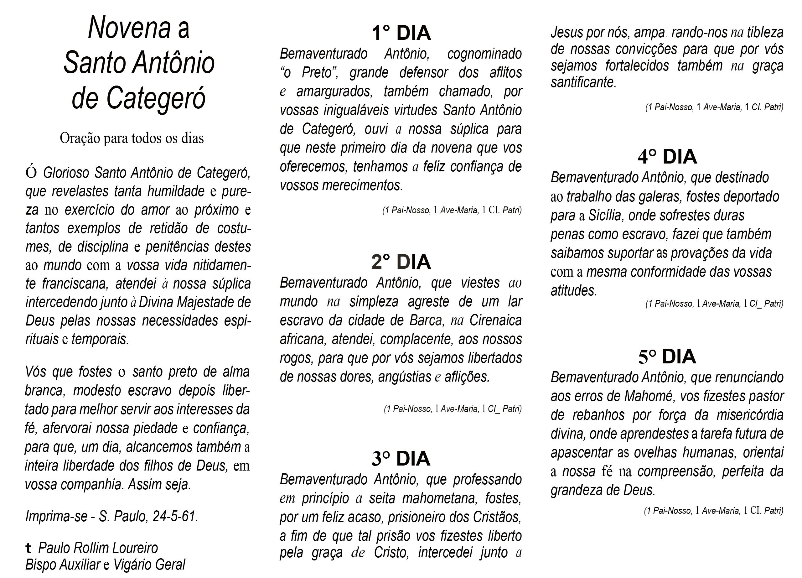 1961 1ª pag - Novena Catgro Bsipo Rolim